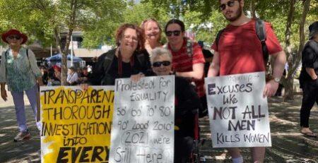 Women demanding Action Across Australia by Susan George